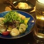 料理菜々 きりん - 貝柱サラダ