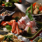 新潟 食楽園 - 寒ブリ・ずわい蟹・越の鶏コース