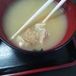 堀添食堂 - 那珂湊焼きそば¥400 サービスのあら汁