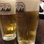 京都ハナビ - 生ビール(¥370)