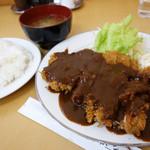 味一 - 2013年4月 黒豚ロースカツ定食1100円
