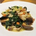 菜厨瑠 - 牡蠣とムール貝のアクアパッツア