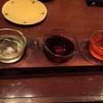 そば居酒屋るちん - 健麗酒の利き酒三種♪