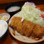 とんかつ 竹亭 - 2013年5月 上ひれかつ定食1300円