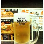 中華そば まるしょう - 「生ビール」… モルツです(2014.03)