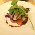 コウジイガラシ オゥレギューム - もち豚のロースト お芋、季節野菜グリル