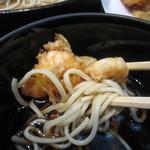 茅場町 長寿庵 - かき揚げと蕎麦を一緒のつゆで
