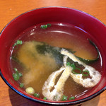 ちいさなフライパン - ランチ味噌汁
