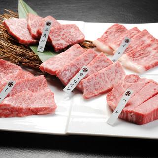 万葉 - 料理写真:これを食べにくるリピーター多数!極上近江牛(5種盛)