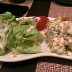 焼鳥と韓国料理 人生の楽園 - ポテトサラダ