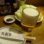33997895 - 鶏にはビールだ!これが「とりあえずビール」ならぬ「鶏withビール」なのだ!(笑)