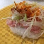 丸寿司 - とろたたきのネギラー油?