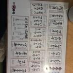 丸寿司 - 3点盛りなどのメニュー