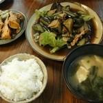 食堂ウミユリ - 豚とナスの中華炒め 750円