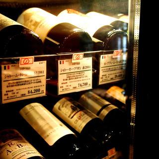 【ワイン】100種類以上【地酒】50種類以上取り揃え!!