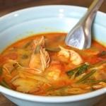 大阪カオマンガイカフェ - 海老の世界三大スープ
