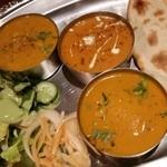 インディアンレストラン シャンティ - 【再訪追加2015/1】まろやか系のえび、なす、チャナ豆