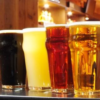 8種類の樽生クラフトビール