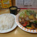 順園 - パオロー定食(スープ・ライスやや大盛り) 770円