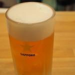 もつ屋 - 450えん『サッポロ生ビール(中)』2015.1