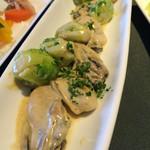 プリマベーラ - 牡蠣と芽キャベツのソテー