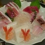 和食かっぽれ - 刺身盛り2人前5350円                              白身の種類が豊富で美味しい!!この日は平目とヤガラが美味!!