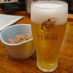 3402158 - まずはビールで喉を潤す。