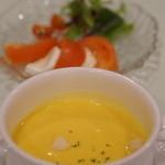ひだホテルプラザ - 中華⁺洋食コース スープとカプレーゼ【2014.12月】