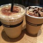 オモテサンドウ コーヒー - アイス シェカラート(¥500)・カフェ モカ(¥550)
