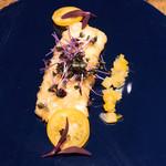bistro BARNYARD - アナゴのベニエ  グリオットチェリーと山椒の効いたソース