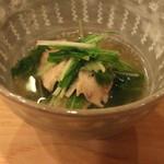 樋口 - 水菜 と さえずり の煮びたし (2014/12)