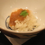 樋口 - 海鼠腸の飯蒸し (2014/12)