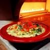 イタリアン厨房 マデーニ - 料理写真:熱々!窯焼きグラタンパスタ(チキン・木の子・ちぢみほうれん草のチーズクリームパスタ)