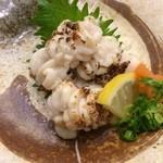 がってん寿司 - 焼き白子(400円)水っぽく味もコクも何もない…まずいの一言