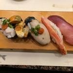 がってん寿司 - 冬の五貫握り(840円)全て酷い、まずいの一言