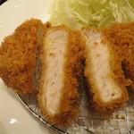 tonkatsumaisen - 沖田黒豚ロースかつ断面