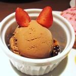 ニコラハウス - チョコパフ入りのチョコアイス