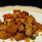 瑛舎夢 - 「季節の野菜のバッサンティ」揚げたての季節の野菜、ポテト、豆をエイシャムオリジナルスパイスとレモン、トマトでさっぱり仕上げました