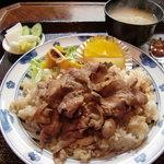 茶屋侘助 - わびすけライス(豚のしょうが焼)