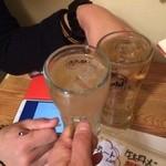 立呑み居酒屋 牡丹 - 乾杯!