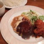 ニユートーキヨー ビヤレストラン - 日替り限定ランチ:牛挽き肉チーズカツレツ&鶏のチリソース煮