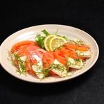 トマトと豆腐のゆず醤油サラダ