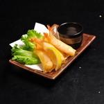 海老とチーズのミニ春巻き~ゆず塩添え~(5個)