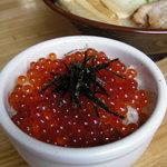 波飛沫 - ミニいくら丼セット(らーめん+450円) ・・・ 夏季限定。漁師直買のイクラは間違いなしでウマイ!!