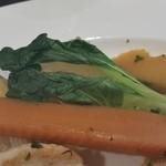 34051513 - 温野菜は、玉ねぎ・人参・大根・南瓜と青梗菜。
