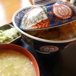 麺麺亭 そば御膳 - 天丼(¥750税込み)みそ汁付き