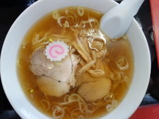 マルモ食堂 - ラーメン(¥450税込み)ほっとする一杯、麺が旨い^^