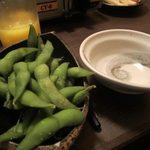 竹とんぼ - 枝豆2014/12
