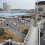 喫茶フルール - 窓から見る、JR加古川駅東部の風景