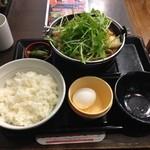 なか卯 - 20150105 鶏担々うどん鍋膳